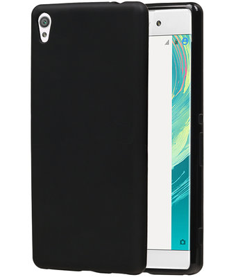 Hoesje voor Sony Xperia C6 TPU Cover Transparant Zwart