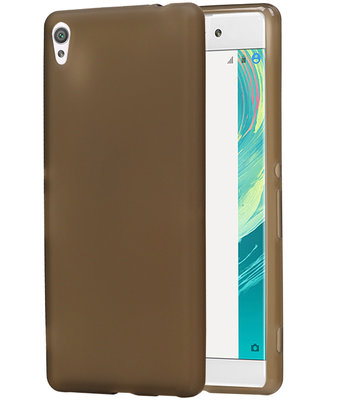 Hoesje voor Sony Xperia C6 TPU Cover Transparant Grijs