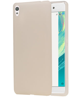 Hoesje voor Sony Xperia C6 TPU Cover Transparant Wit