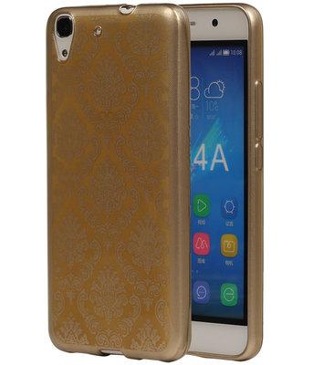 Goud Brocant TPU back cover voor Hoesje voor Huawei Honor Y6 / 4A