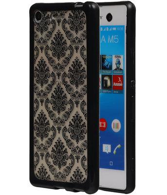 Zwart Brocant TPU back cover voor Hoesje voor Sony Xperia M5