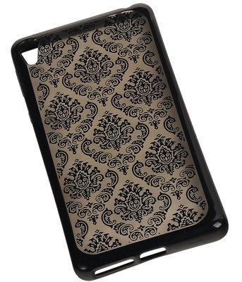 Zwart Brocant TPU back cover voor Hoesje voor Sony Xperia E5