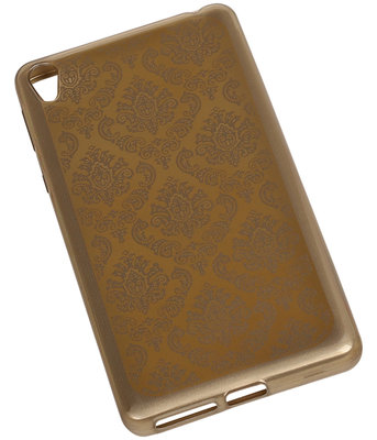 Goud Brocant TPU back cover voor Hoesje voor Sony Xperia M5