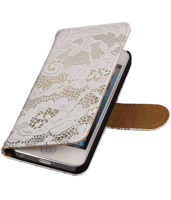 Lace Wit iPhone 5 5s Book/Wallet Case/Cover Hoesje