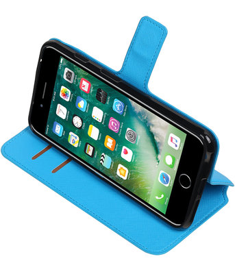 Blauw Apple iPhone 7 Plus / 8 Plus TPU wallet case booktype hoesje HM Book
