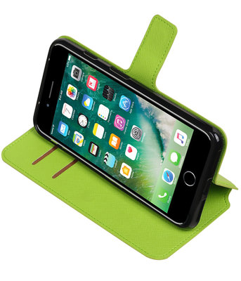 Groen Apple iPhone 7 Plus / 8 Plus TPU wallet case booktype hoesje HM Book