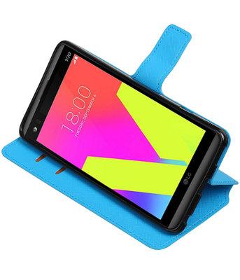 Blauw Hoesje voor LG V20 TPU wallet case booktype HM Book