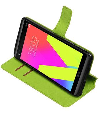 Groen Hoesje voor LG V20 TPU wallet case booktype HM Book
