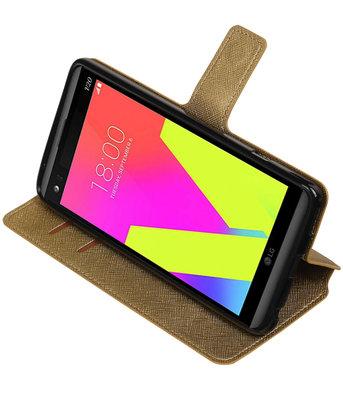 Goud Hoesje voor LG V20 TPU wallet case booktype HM Book