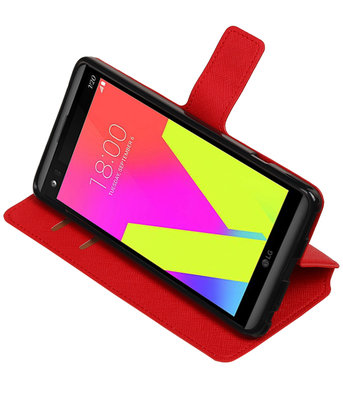 Rood Hoesje voor LG V20 TPU wallet case booktype HM Book