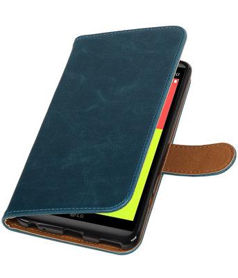Blauw Pull-Up PU booktype wallet voor Hoesje voor LG V20