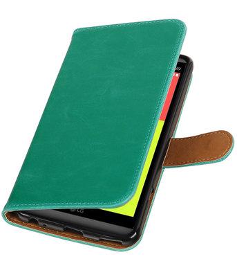 Groen Pull-Up PU booktype wallet voor Hoesje voor LG V20