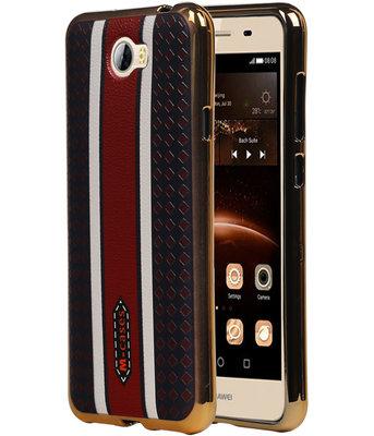 M-Cases Bruin Ruit Design TPU back case cover voor Hoesje voor Huawei Y5 II