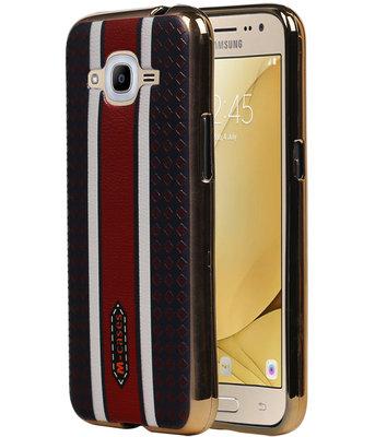 M-Cases Bruin Ruit Design TPU back case voor Hoesje voor Samsung Galaxy J2 2016
