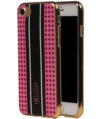 M-Cases Roze Ruit Design TPU back case voor Hoesje voor Apple iPhone 7 / 8