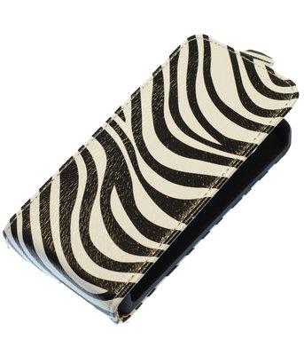 Zebra Flip case voor Hoesje voor Apple iPhone 5 / 5S / SE