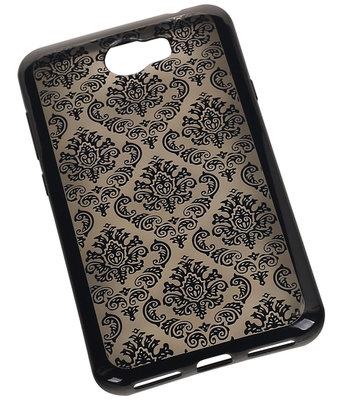 Zwart Brocant TPU back case cover hoesje voor Huawei Y6 II Compact
