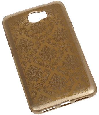 Goud Brocant TPU back case cover hoesje voor Huawei Y6 II Compact