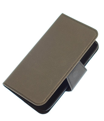 Grijs Hoesje voor Samsung Galaxy S I9000 cover case booktype Ultra Book