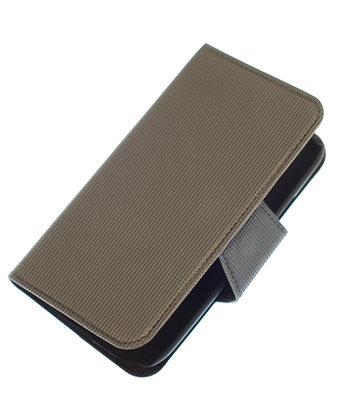 Grijs Samsung Galaxy S Advance I9070 cover case booktype hoesje Ultra Book