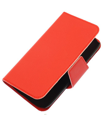 Rood Hoesje voor Samsung Galaxy S2 I9100 cover case booktype Ultra Book