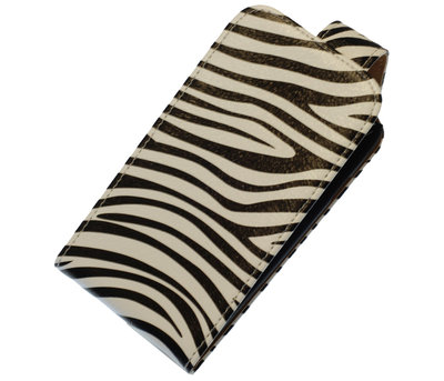 Zebra Classic Flip case hoesje voor Huawei Ascend Y550