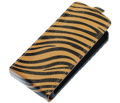 Bruin Zebra Flip case voor Hoesje voor Samsung Galaxy S Advance I9070