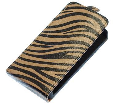 Grijs Zebra Flip case voor Hoesje voor Samsung Galaxy S Advance I9070