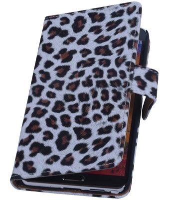 Bruin Luipaard Hoesje voor Apple iPhone 5 / 5S / SE Booktype Wallet Cover