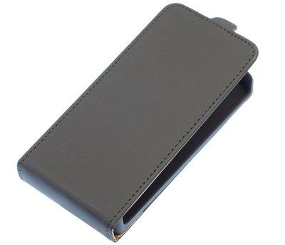 Zwart Effen Flip case voor Hoesje voor Samsung Galaxy S5