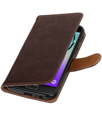 Mocca Pull-Up PU booktype wallet cover voor Hoesje voor Samsung Galaxy A3 2017