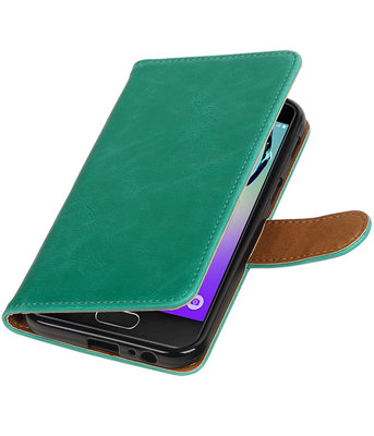 Groen Pull-Up PU booktype wallet cover hoesje voor Samsung Galaxy A3 2017
