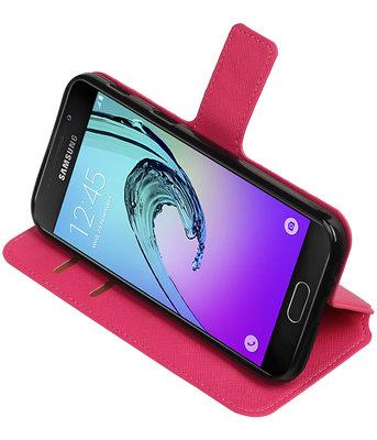 Roze Samsung Galaxy A5 2017 TPU wallet case booktype hoesje HM Book