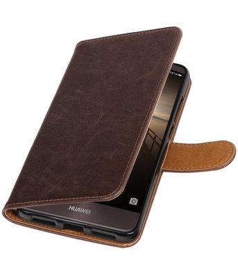 Mocca Pull-Up PU booktype wallet cover voor Hoesje voor Huawei Mate 9