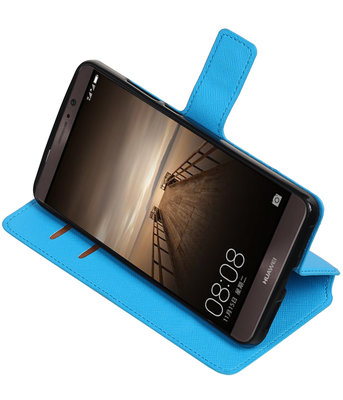 Blauw Hoesje voor Huawei Mate 9 TPU wallet case booktype HM Book