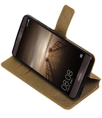 Goud Hoesje voor Huawei Mate 9 TPU wallet case booktype HM Book