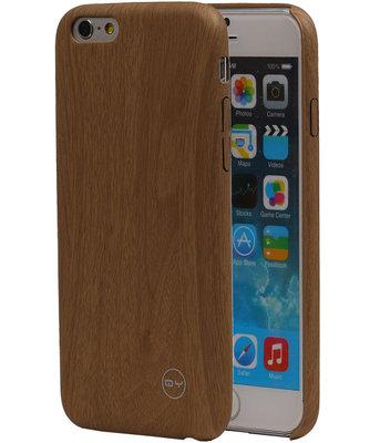 Licht Bruin Hout QY TPU Cover Case voor Hoesje voor Apple iPhone 6/6S Plus