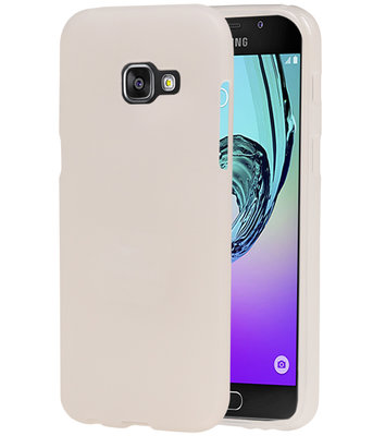 Samsung Galaxy A3 2017 TPU back case hoesje transparant Wit
