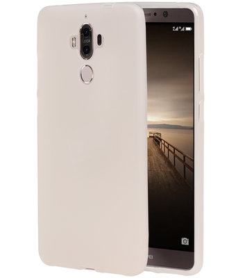 Hoesje voor Huawei Mate 9 TPU back case transparant Wit
