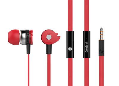 Magic Wheel Stereo Headset Oordopjes met microfoon - Rood