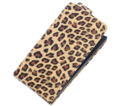 Licht Bruin Luipaard Classic Flip case hoesje voor Nokia Lumia 525