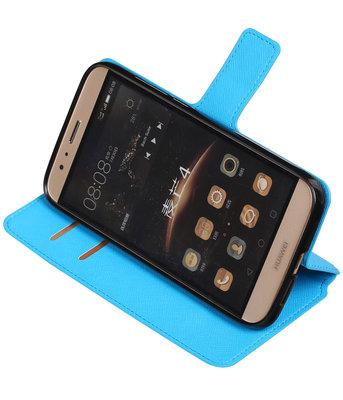 Blauw Hoesje voor Huawei G8 TPU wallet case booktype HM Book