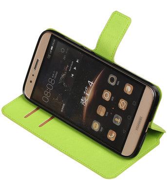 Groen Hoesje voor Huawei G8 TPU wallet case booktype HM Book