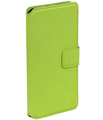 Groen Hoesje voor Samsung Galaxy S4 mini I9190 TPU wallet case booktype HM Book