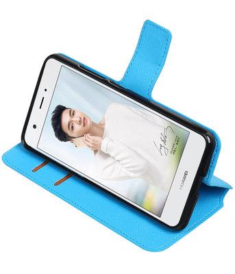Blauw Huawei Nova Plus TPU wallet case booktype hoesje HM Book