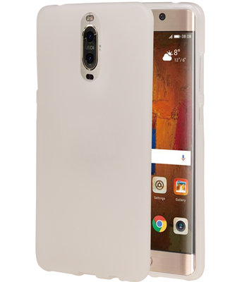 Hoesje voor Huawei Mate 9 Pro TPU back case transparant Wit
