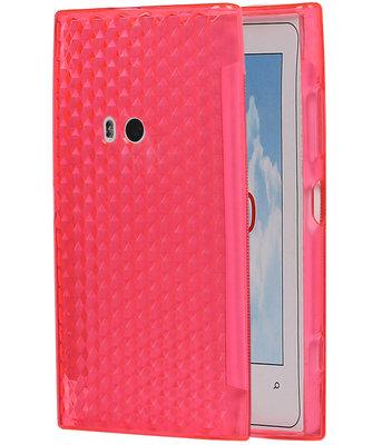 Hoesje voor Nokia Lumia 920 Diamant TPU back case Roze