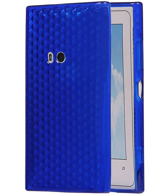 Hoesje voor Nokia Lumia 920 Diamant TPU back case Donker Blauw