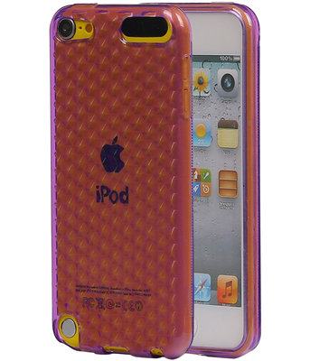Hoesje voor Apple iPod Touch 5 / 6 Diamant TPU back case Paars
