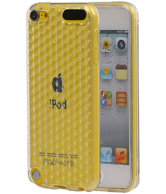 Hoesje voor Apple iPod Touch 5 / 6 Diamant TPU back case Wit